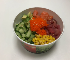Foto Poke bowl fish